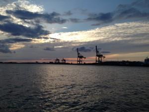 Containerkraner ved Göteborg